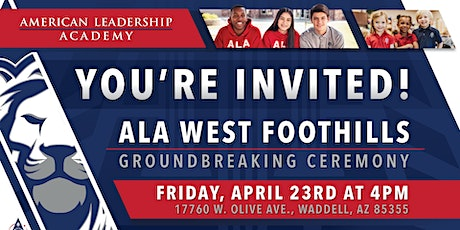 American Leadership Academy-West Foothills Groundbreaking Ceremony tickets