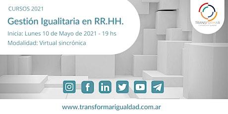 Gestión Igualitaria en RR.HH. Nivel Introductorio. entradas
