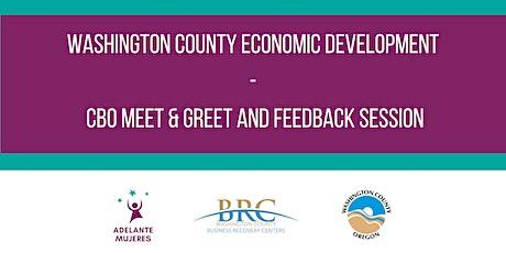Washington County Economic Development- CBO Meet & Greet tickets