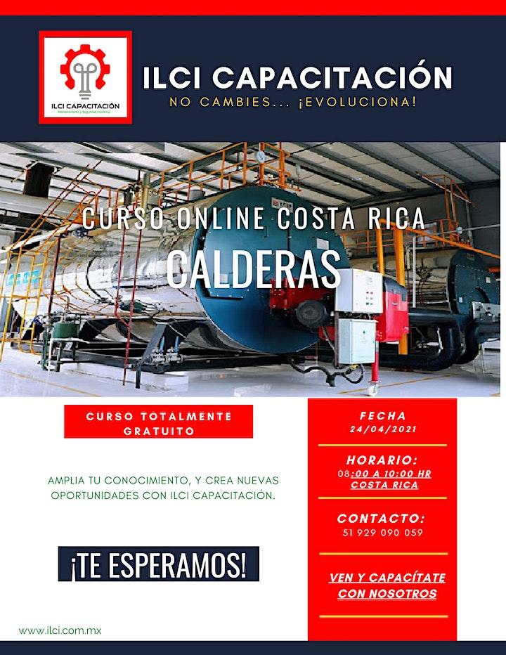 """Imagen de Curso Gratuito Costa Rica """"Calderas"""""""