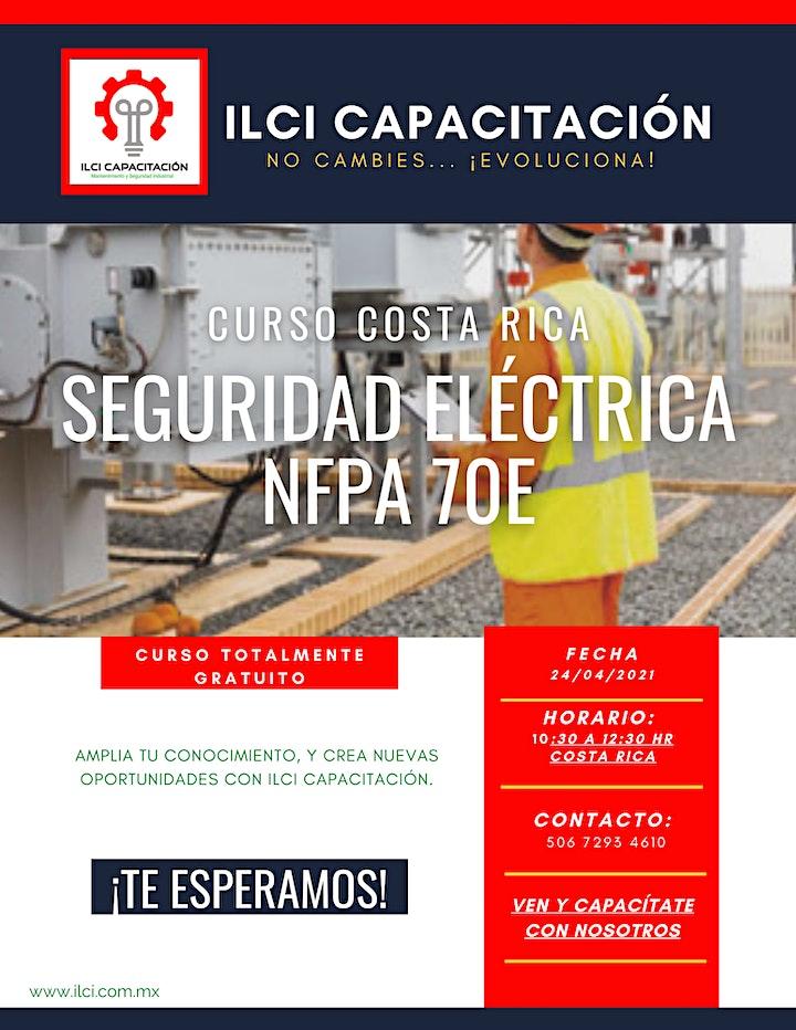 """Imagen de Curso Gratuito Costa Rica """"NFPA 70E"""""""