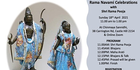 RAMA NAVAMI FESTIVAL CELEBRATIONS  (Sunday 18 April 2021) - Online only! tickets