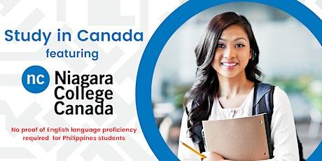 Study In Canada featuring Niagara College Canada tickets
