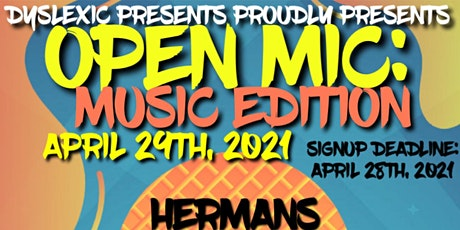 OPEN MIC (MUSIC EDITION) ALL GENRES WELCOME_SIGN-UPS BY 4/28 (SEE DETAILS tickets