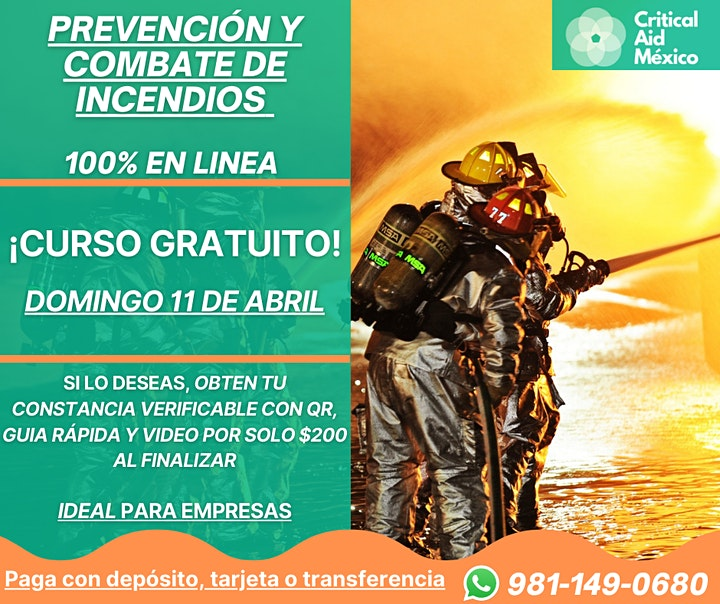 Imagen de Prevención y Combate de Incendios - CURSO GRATIS