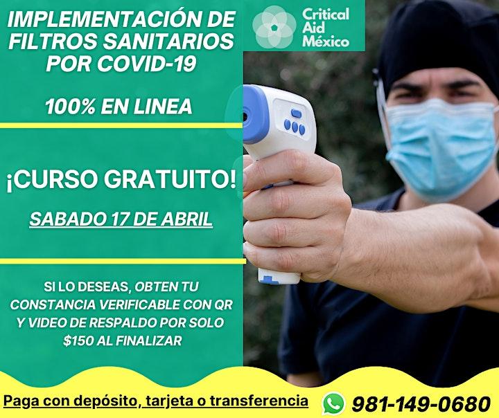 Imagen de Implementación de filtros sanitarios por COVID-19 - CURSO GRATUITO
