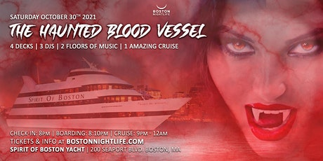 Haunted Blood Vessel Boston Halloween Party Cruise tickets