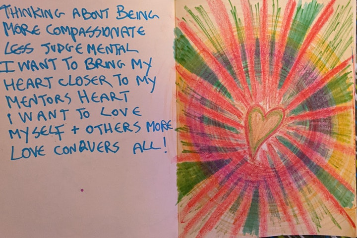 Creative expressive journalling for womxn, drop in class. image