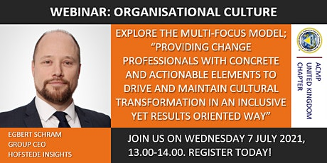 ACMP UK WEBINAR: ORGANISATIONAL CULTURE tickets