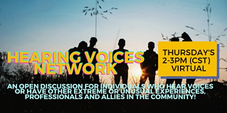 FREE Hearing Voices Network Support THURSDAYS @2-3PM cst tickets