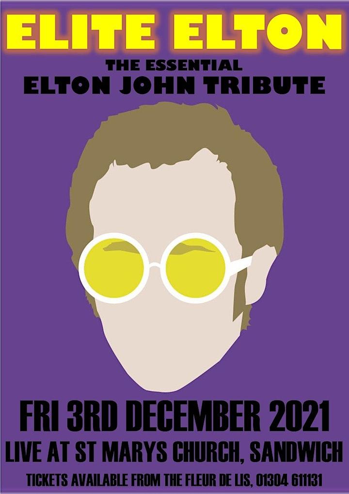 Elite Elton - Elton John Tribute at St Mary's Church, Sandwich image