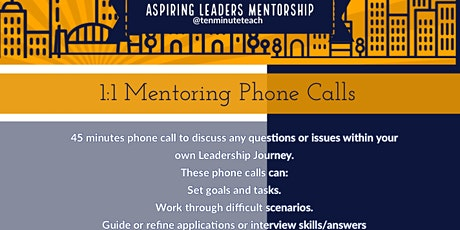 1:1 Mentorship Phone Calls tickets