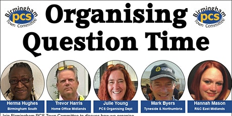 Brum PCS Organising Question Time tickets