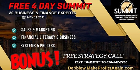 4 FREE FULL DAYS OF BUSINESS OWNERSHIP, FINANCE, MARKETING & INVESTING! tickets
