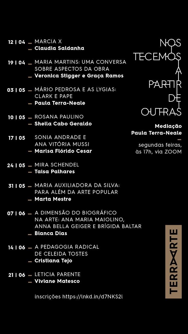 Imagem do evento LETICIA PARENTE; Viviane Matesco /Artistas Brasileiras Seminais