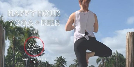 Happy hour Yoga + Beer at Craft Beer Cellar tickets