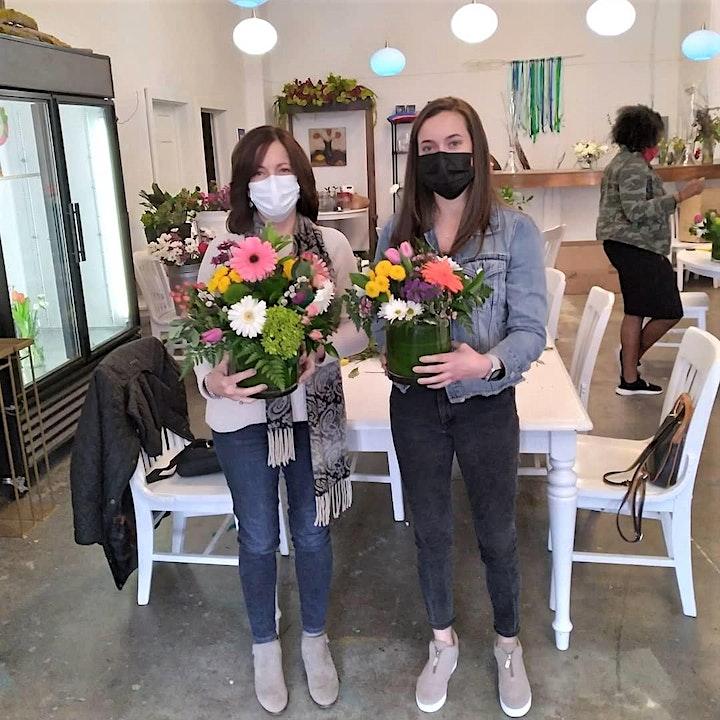 Spring DIY Floral Design Workshop- Admits 2 people (table reservation) image