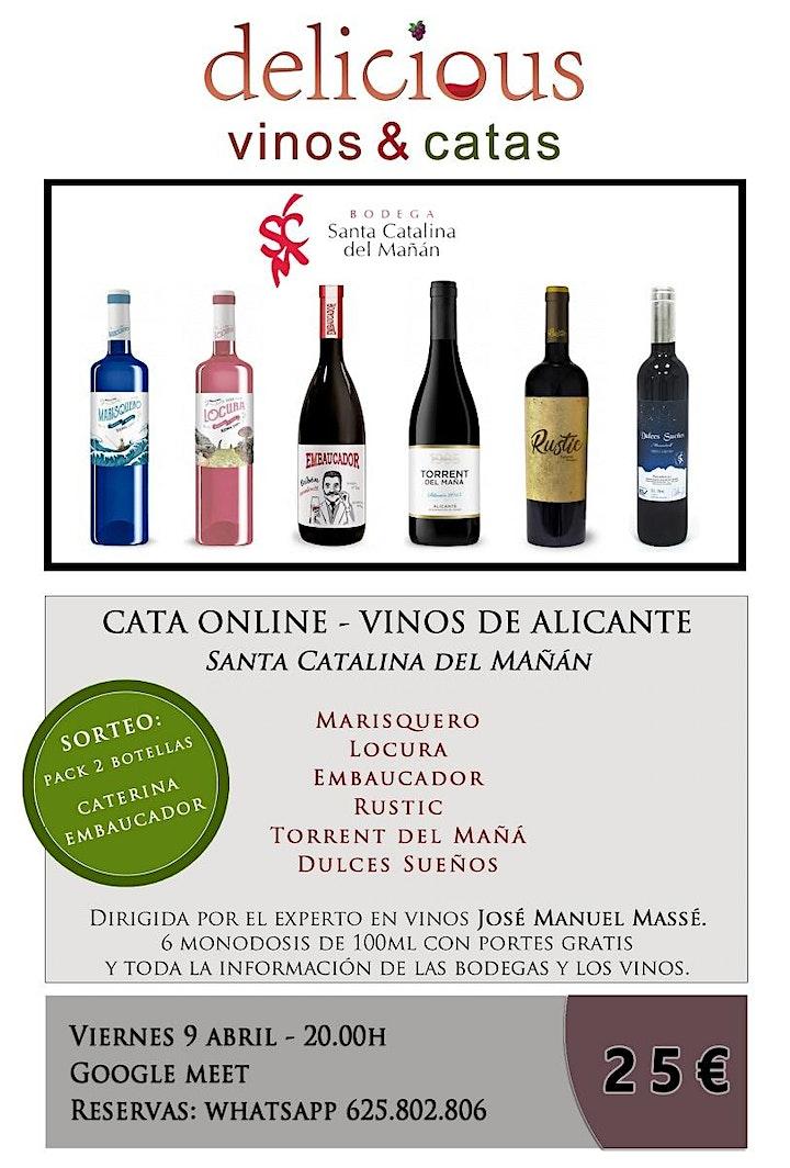 Imagen de Cata ONLINE  de vinos de Alicante