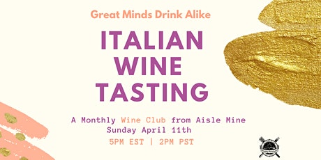 Cloud Wine - Italy Tasting  - Monthly Meetup tickets