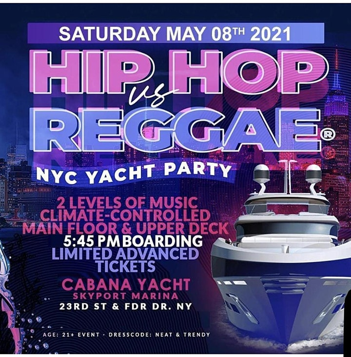 **SOLD OUT!! YACHT PARTY NYC - HipHop & Reggae® Boat Party! Sat., May. 8TH image