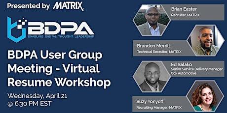 BDPA Atlanta - Virtual Resume Workshop tickets