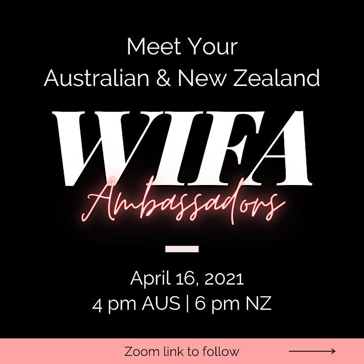 Meet Your AUS/NZ WIFA Ambassadors image