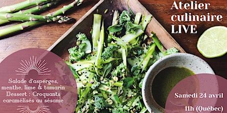 Atelier culinaire en ligne - Salade d'asperges et croustillants sésame billets