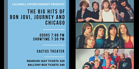 The Big Hits of Bon Jovi, Journey and Chicago tickets