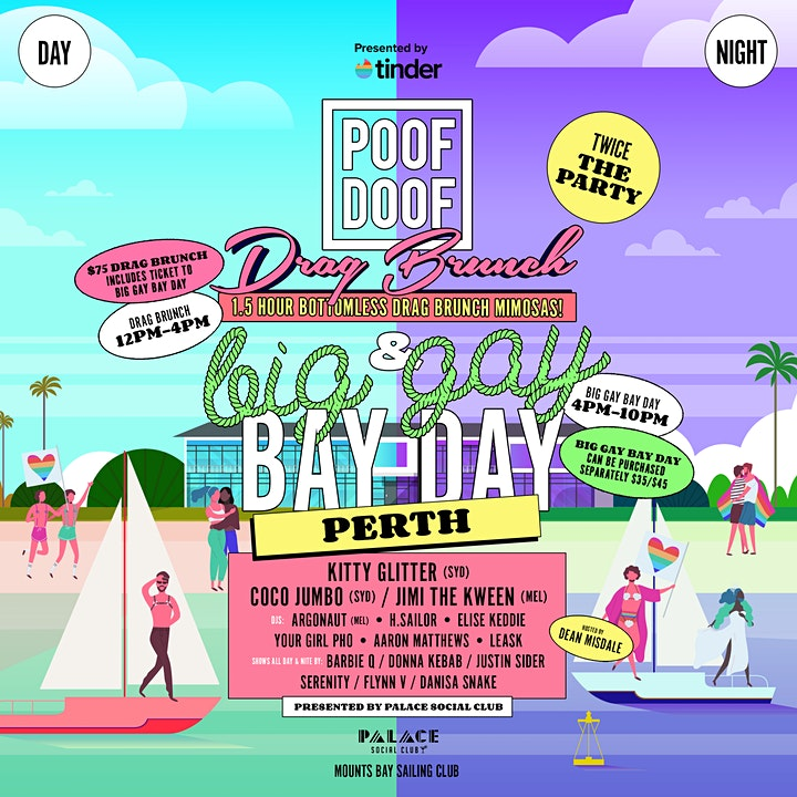 Poof Doof Perth - Drag Brunch / Big Gay Bay Day image