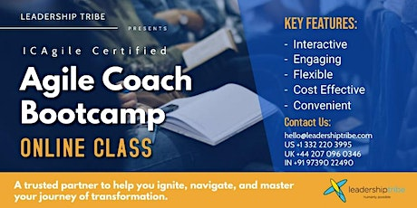 Agile Coach Bootcamp | Part Time - 130721- US tickets
