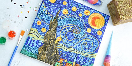 ONLINE - Henna Inspired Van Gogh Canvas Workshop tickets