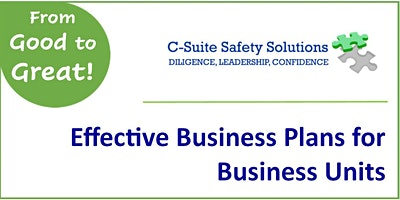 Effective Safety Plans for Business Units