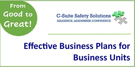 Effective Safety Plans for Business Units tickets