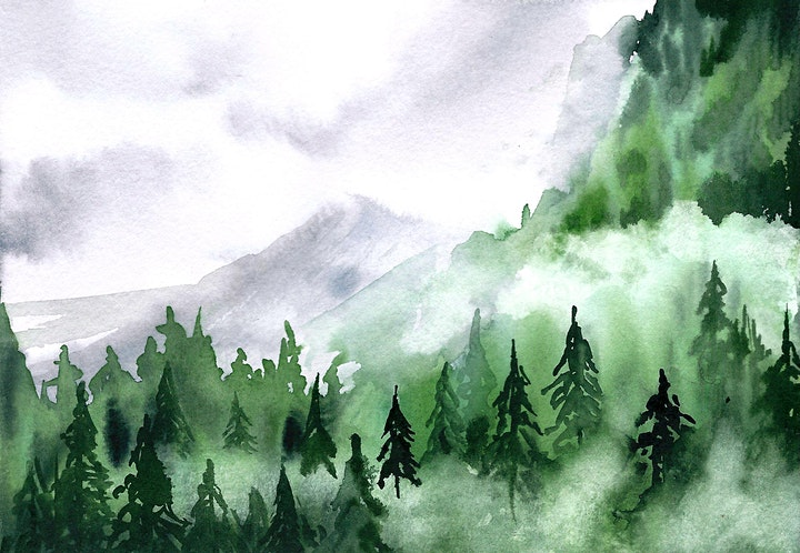Aquarellkurs Foggy Landscape - Onlinekurs - Kreativ zu Hause: Bild