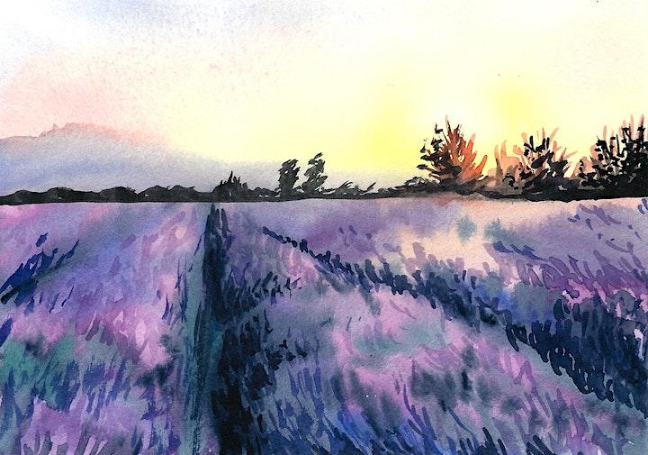 Aquarell Landschaft  für Fortgeschrittene - Kreativ zu Hause: Bild