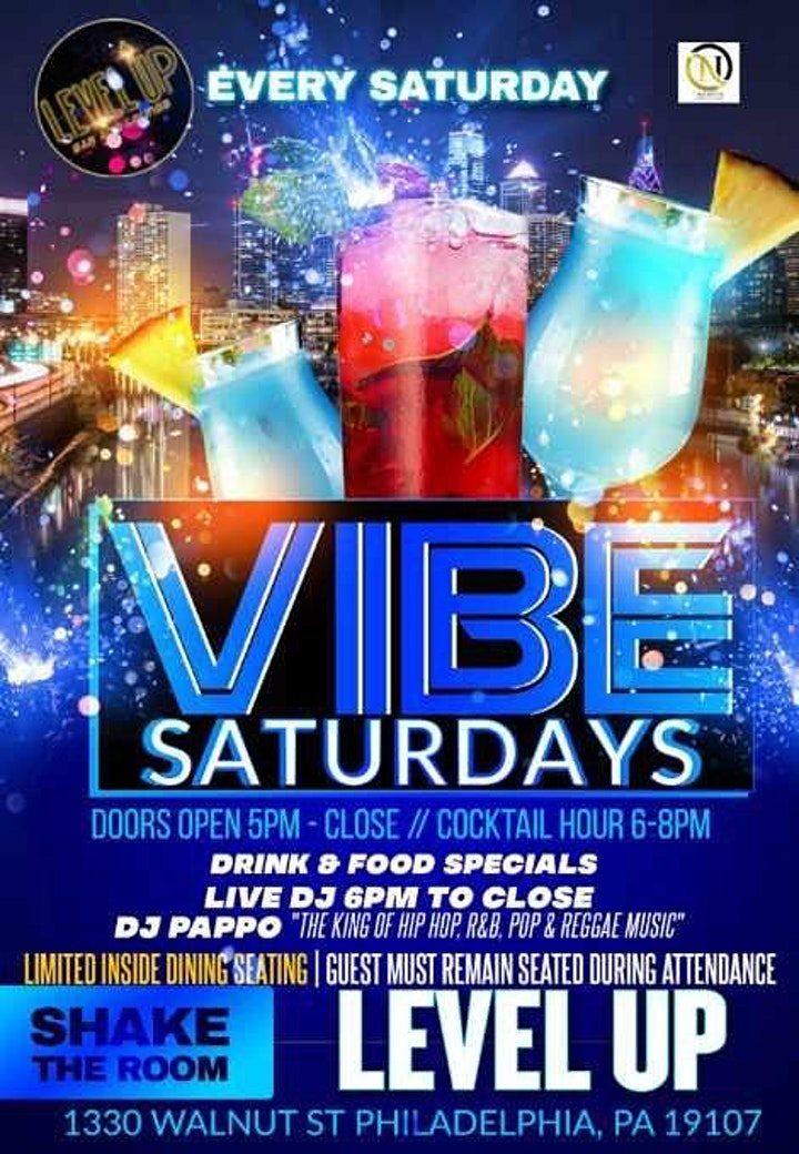VIBE:Saturday featuring Hip/Hop, R&B, & Caribbean Music by DJ Papo image