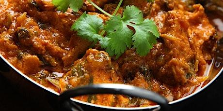 Lamb Balti / Vegetable Balti  and Garlic Naan Wellbeing Cook-Along ingressos