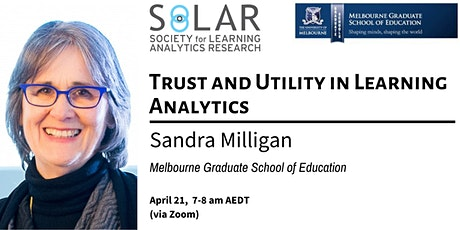 SoLAR Webinar: Trust and Utility in Learning Analytics tickets