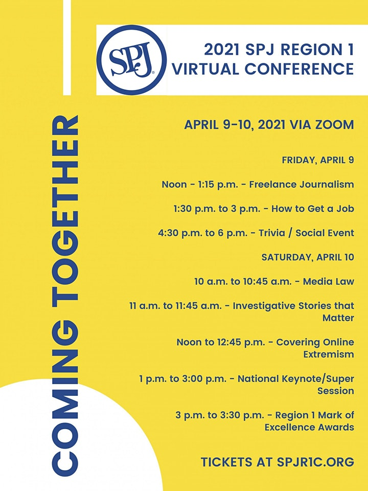 2021 SPJ Virtual Region 1 Conference image
