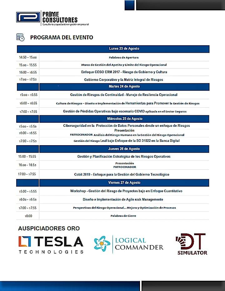 Imagen de 3er Seminario Latinoamericano en Gestión del Riesgo Operacional - GROp 2021