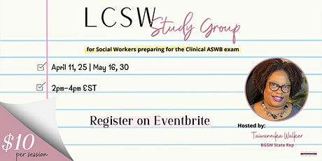 LCSW Study Group Session #2 tickets