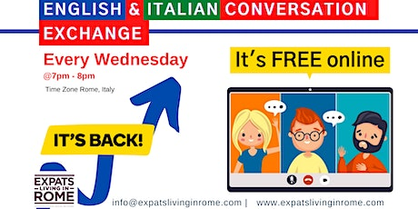 Copy of EVERY WEDNESDAY – ITALIAN & ENGLISH CONVERSATION EXCHANGE tickets
