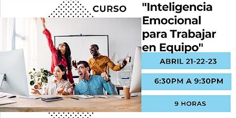 """Curso """"Inteligencia Emocional para trabajar en Equipo"""" entradas"""