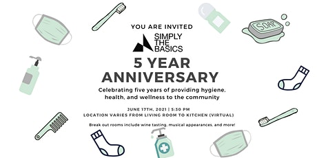 Simply the Basics Five Year Anniversary tickets