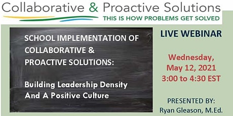 School Implementation of Collaborative & Proactive Solutions tickets