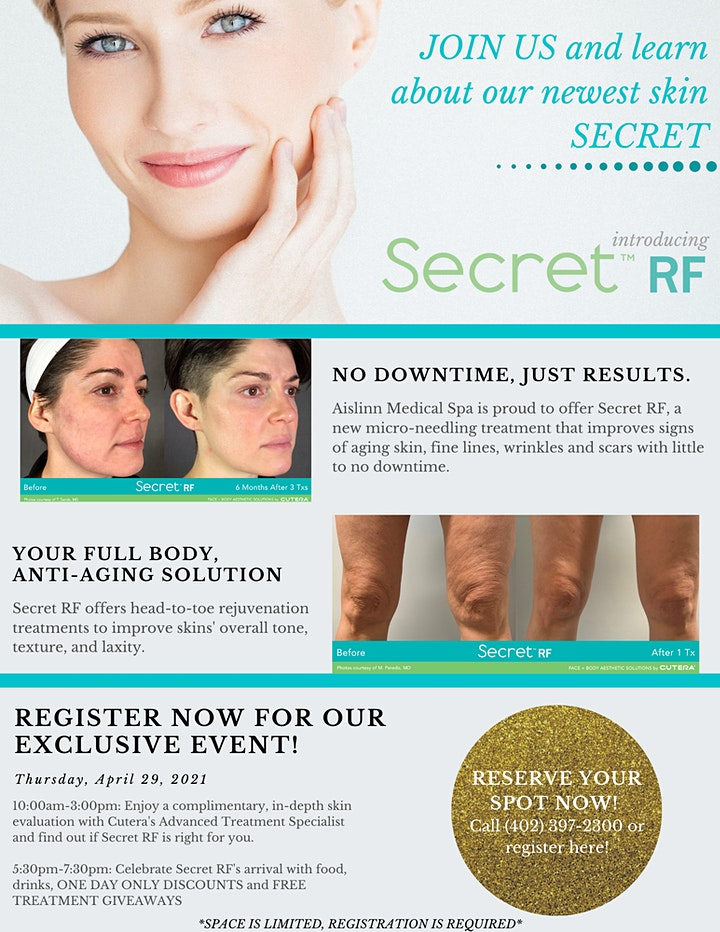 JOIN US at Aislinn Medical Spa for our VIP event! image