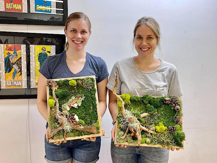 Moss art in frame workshop image