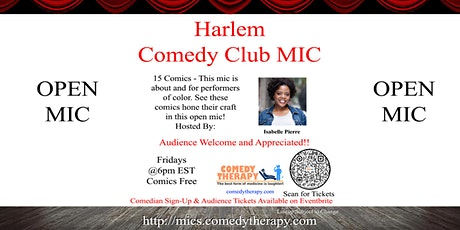 Harlem Comedy Club Mic - April 30th tickets