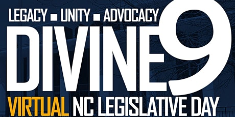 NC Divine Nine Legislative Day ingressos