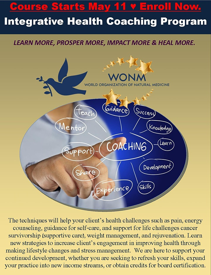 IHCC Integrative Health Coaching Certification Course by WONM image